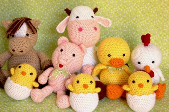 Kit bichos da fazenda | Carolina Crochet | Elo7