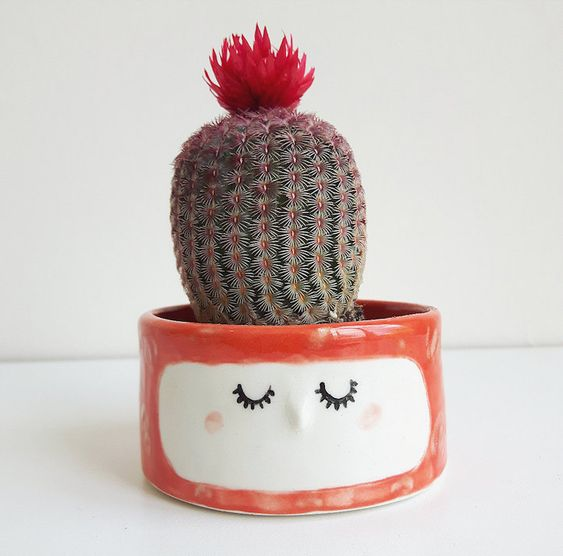 Quirky Ceramic Face Pots Are Given a Wild Hairdo When You Add a Plant - My Modern Met: