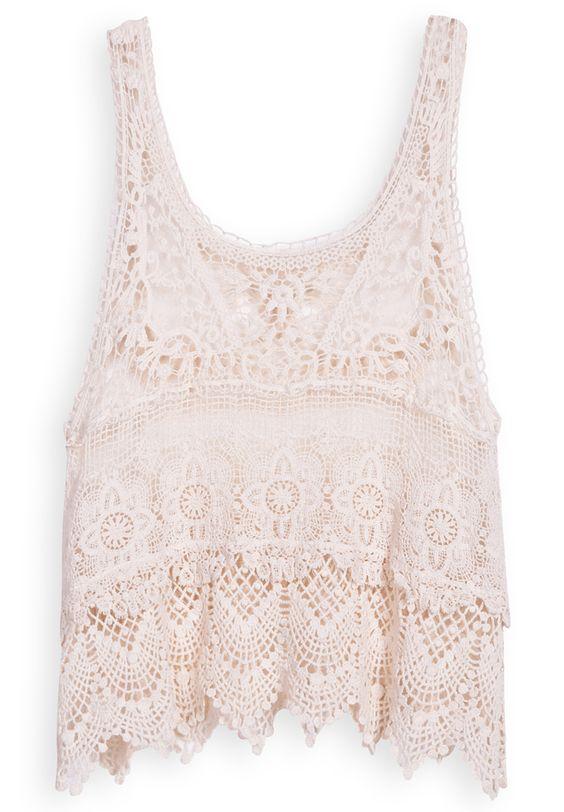 cute, crochet tank top