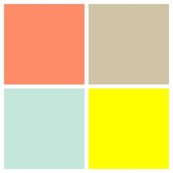 Color palette for unisex gender neutral nursery salmon for Neutral color scheme