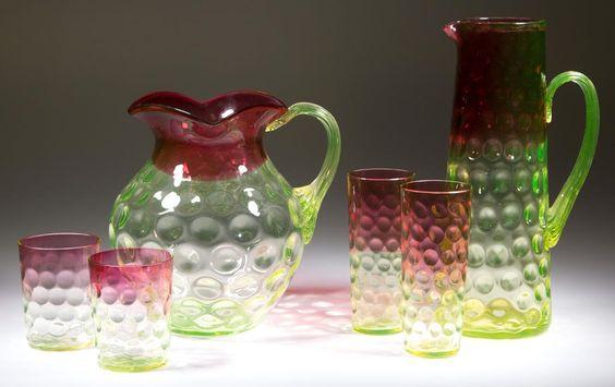 Good Rubina Verde and Vaseline glass