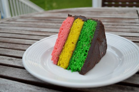 Italian Rainbow Cookie Cake, can someone please make for my birthday!?