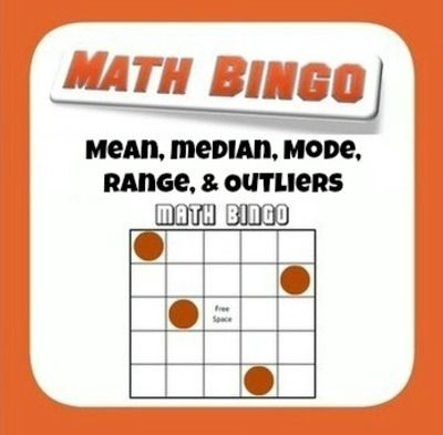 Mean, Median, Mode, Range, and Outlier Bingo from Mathematic Fanatic on TeachersNotebook.com -  (2 pages)  - How are kids supposed to get excited about finding the mean, median, mode, range, or outliers of a data set? By playing Bingo, that's how!