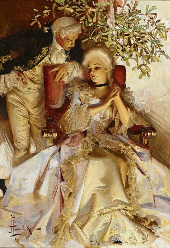 The Courtship  :  Joseph Christian Leyendecker  :  circa 1911  : Fine Art Print  #Illustration