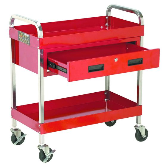 tool cart or outdoor drink serving cart, great idea...