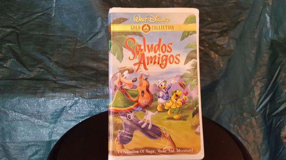 Saludos Amigos VHS Walt Disney Gold Collection Clamshell