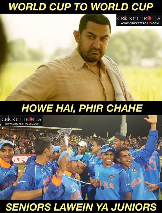 True Indvaus U19cwcfinal U19worldcupfinal Rahuldravid Facebook Com Mycrickettrolls Cricket Teams Ab De Villiers India Cricket Team