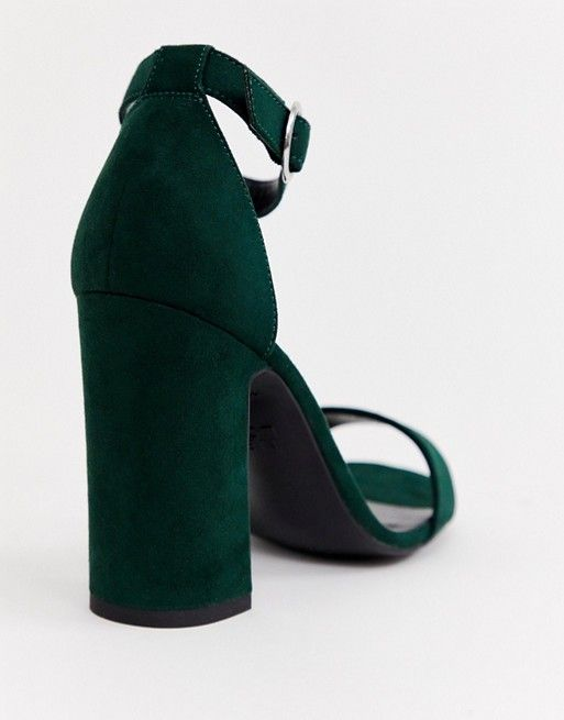 New Look barely there block heeled