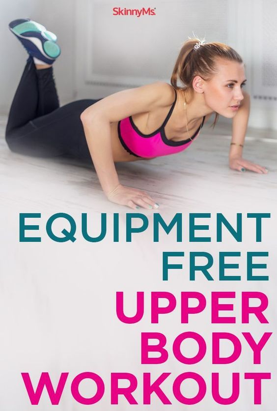 Equipment free upper body workout home