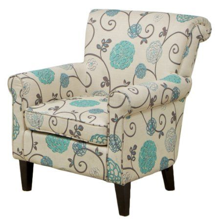 Amazon Roseville Blue Floral Club Chair Accent