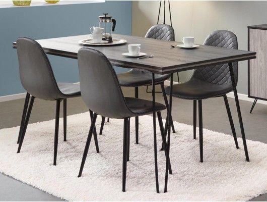 Table Repas Rectangulaire Eclat 160 Cm Chene Cendre Chene Grise Table Repas Table Salle A Manger Et Mobilier De Salon
