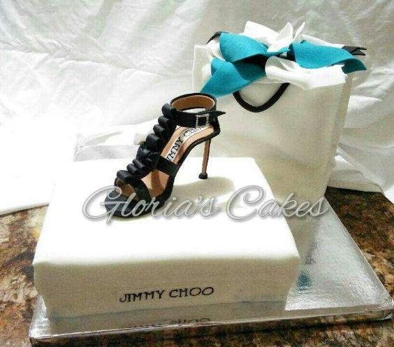 Beautiful Fondant Shoebox and Stiletto Hill Cake
