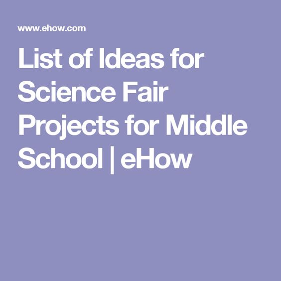 list of science projects