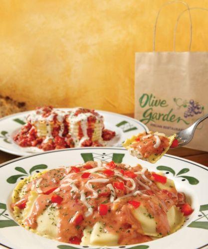 Mezzaluna Ravioli Olive Garden Olive Gardens Ravioli And Olives On