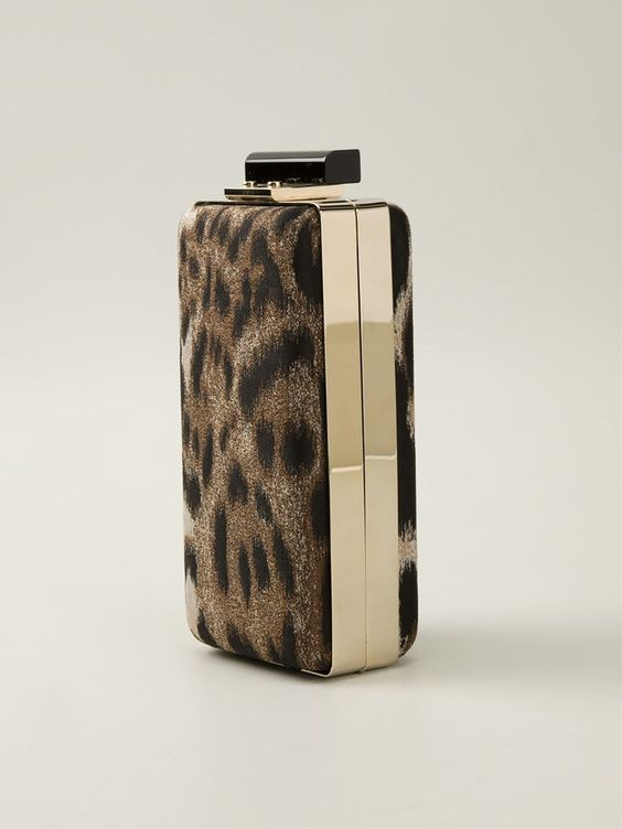 Lanvin Perfume Bottle Clutch in Animal