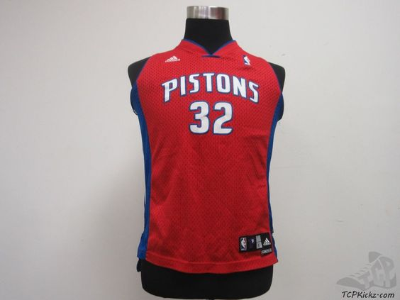 Adidas Detroit Pistons Hamilton #32 Basketball Jersey sz Youth L Large SEWN NBA #adidas #DetroitPistons #tcpkickz