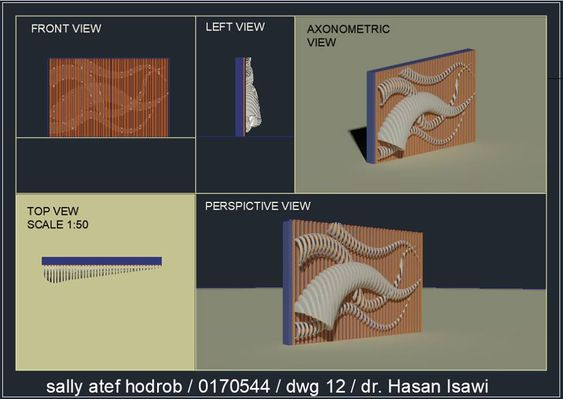 سالي عاطف حدربالرسم المعماري بالحاسوب/ computer architectural drawing