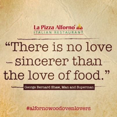 Quote of the day!  #alfornowoodovenlovers