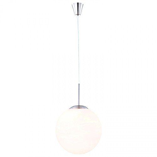 4,5 Watt LED Pendelleuchte Hängelampe Wohnzimmer Opal-Kugel
