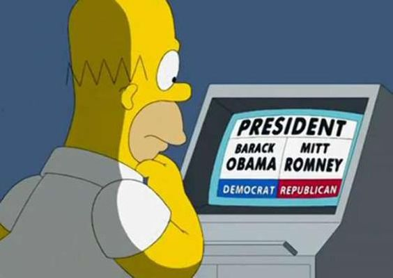 D'oh, Homer Simpson is in Mitt Romney's corner and  for all the wrong reasons     Read more..