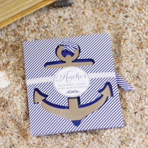 Nautical Themed Brushed Metal Bookmark