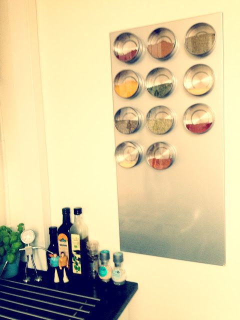Magnetic Spice Rack - cover metal though