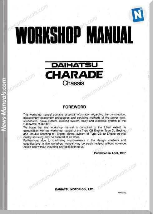 Daihatsu Charade G100 G102 Chassis Workshopmanual Daihatsu Charades Electrical Diagram