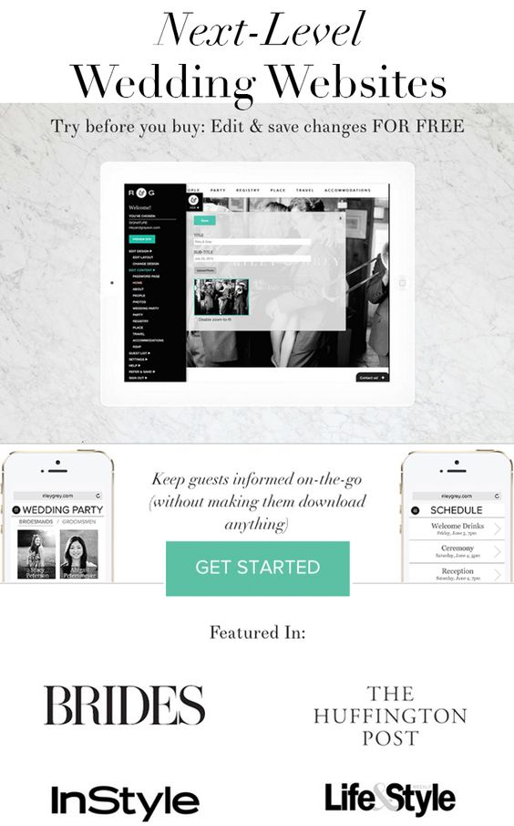 Wedding website examples from Riley Grey Click through to check – Wedding Save the Date Websites