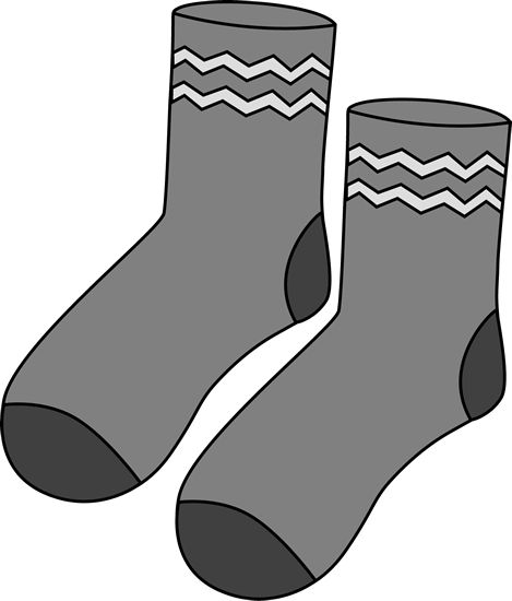 Gray Pair of Socks | Printable Magnets or Scrap Book ...