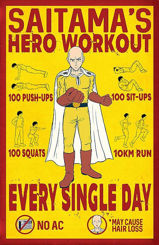 Saitama Workout Challenge - Saitama Workout Wallpaper - Full Body Workout Blog