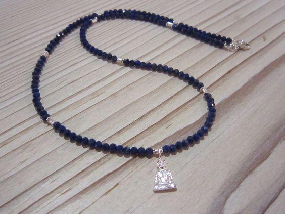 """Lapislazuli - ♥""""Buddha Kette"""" - Lapislazuli♥ ---TOP-Qualität!!!! - ein Designerstück von Atelier-D bei DaWanda"""
