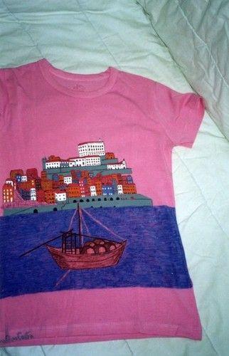 t-shirts pintadas à mão