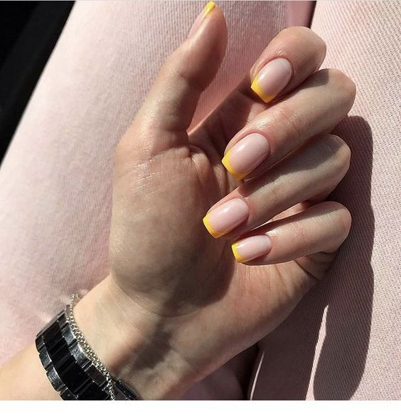 Yellow Tips For Nails Chicladies Uk In 2020 Instagram Nails Perfect Nails How To Do Nails