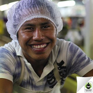 Thank you for bringing a smile to the faces of #farmworkers like Furtino when you choose #FairTrade! #ImprovingLives