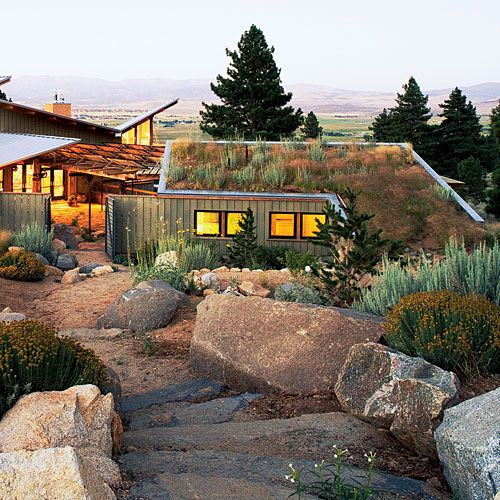 eco friendly roofing gardens green roofs and flats. Black Bedroom Furniture Sets. Home Design Ideas