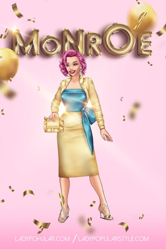 The Fabulous Monroe #ladypopular #ladypopularfashionarena #ladypopulargame #marilynmonroe