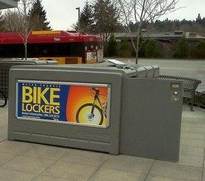 On-demand (pay per use) bike lockers cater to the occasional bike rider taking transit. King County Unveils New On-Demand Bicycle Lockers - Bicycle Alliance of Washington