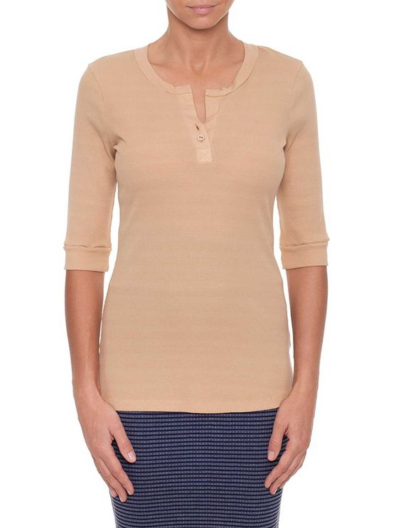 Metalicus - Bruno Half Sleeve Top - Latte Or Black