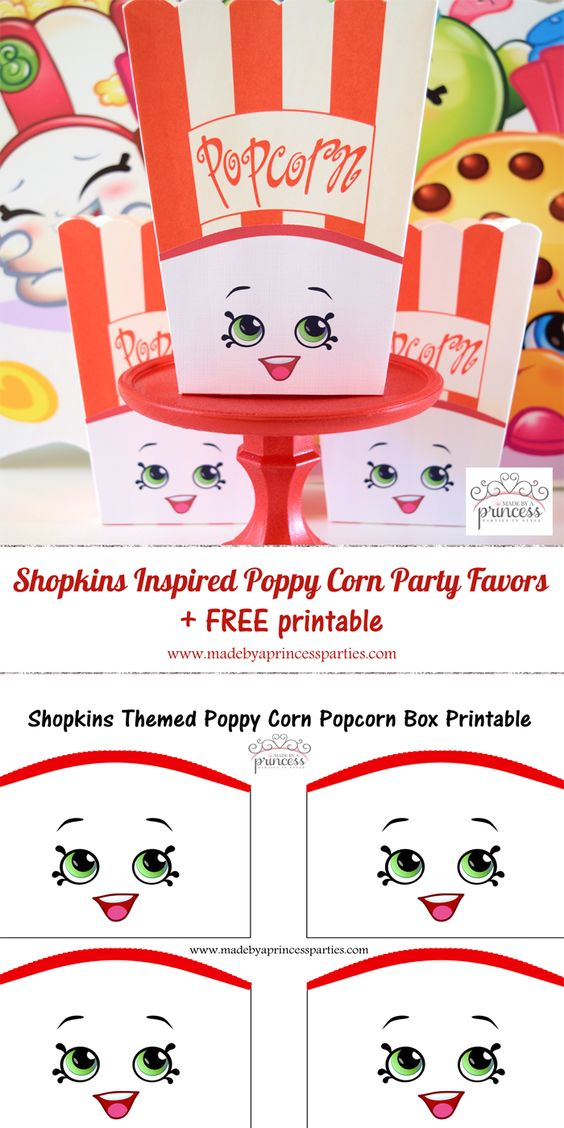 Shopkins Popcorn Party Favor Idea
