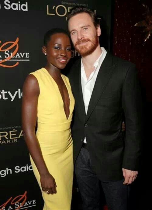 Fassbender and Lupita Ngoyo