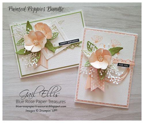 Blutenblatt Rosa Mohnblumen Blaue Rose Papierschatze In 2020 Wedding Cards Birthday Cards Diy Mothers Day Cards