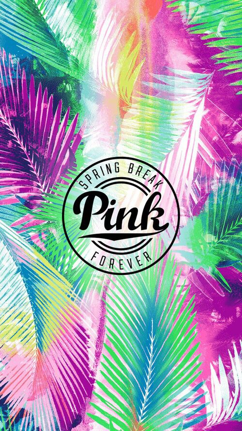 Spring break   Download more tropical iPhone Wallpapers at  prettywallpaper. Victoria Secret Love Pink Background   Victoria Secret PINK