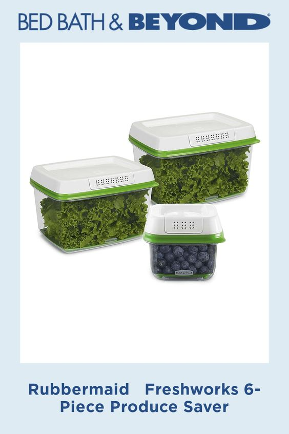 Rubbermaid Freshworks 6 Piece Produce Saver Glass Food Storage