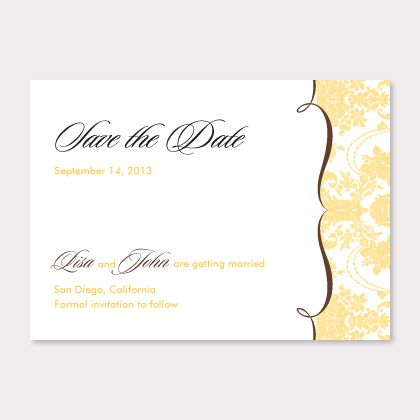 Black Grandeur Save The Date