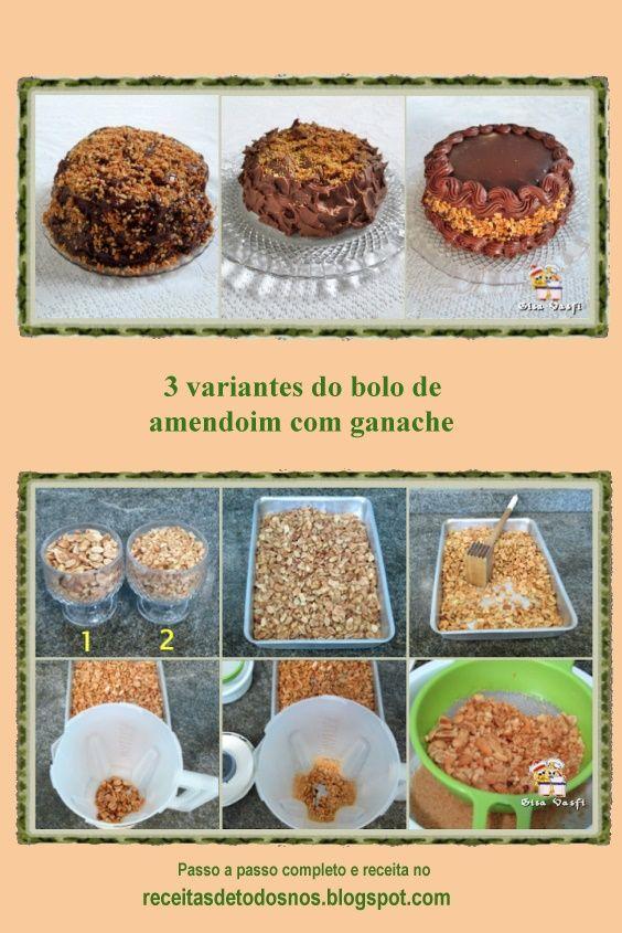3 Variantes Do Bolo De Amendoim Com Ganache Bolo De Amendoim