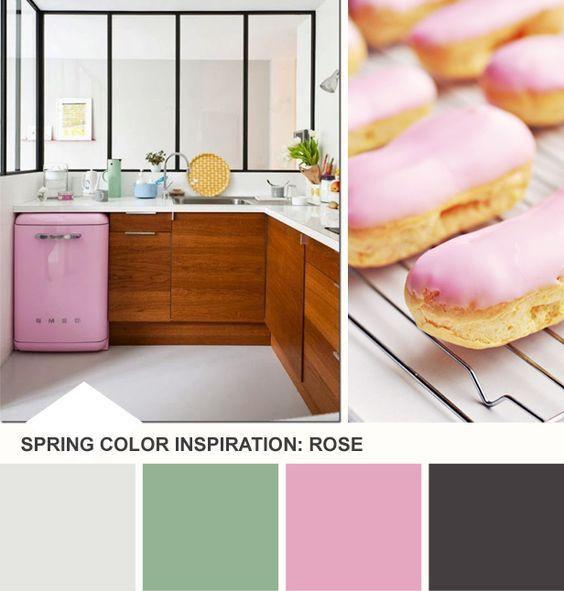 Tuesday Huesday: Rose and Mint Kitchen Inspiration (http://blog.hgtv.com/design/2014/03/25/tuesday-huesday-rose-mint-color-palette/?soc=pinterest)