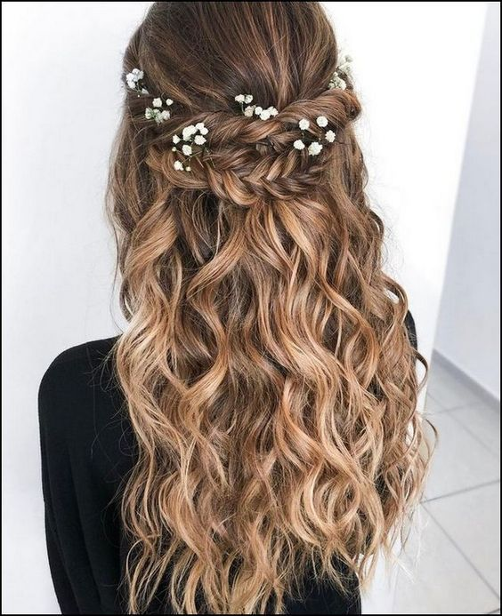 penteados semi preso cabelo loiro