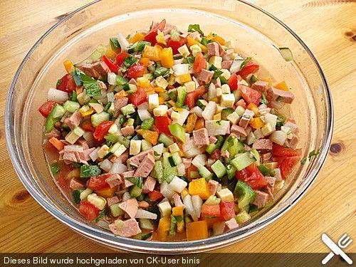 Schweizer Wurstsalat ganz anders Salat, Schweizer Rezepte und - kochrezepte leichte k che