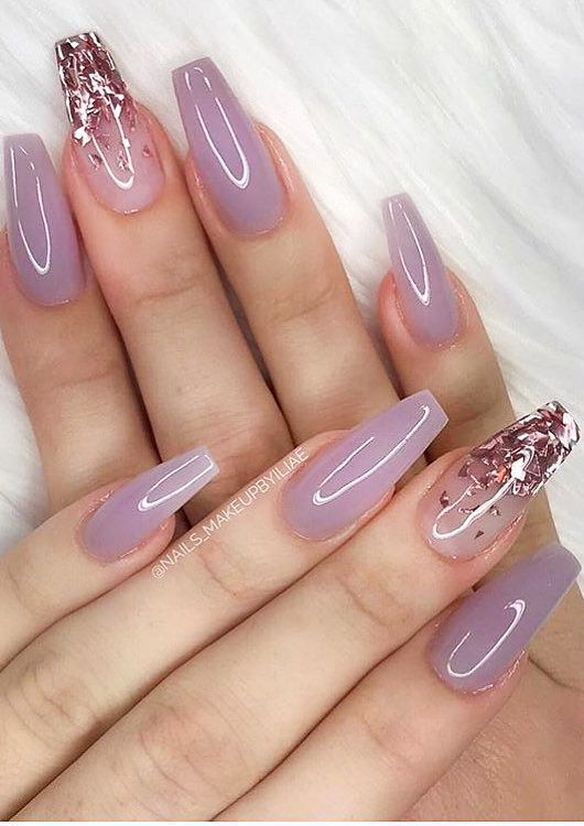 39 Pretty Nail Art Designs for Long Acrylic Nails 2020 Part