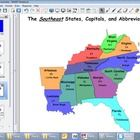 This smartboard activity is a map of the southeast where students can drag the state names, capitals and abbreviations' labels to the map. Also, th...